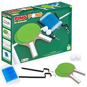 Kit Raquete Bolinha Suporte Rede Tênis Mesa Ping Pong - 225 Junges