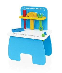 Bancada De Ferramentas Infantil Brinquedo Criança Madeira Mdf - 085 Junges