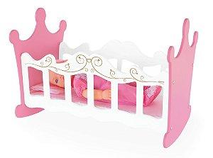 Berço De Balanço Para Bonecas Brinquedo Princesas Mdf - 416 Junges