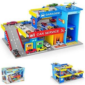 Brinquedo Car Service Postinho Garagem Mdf Hotwheels - 090 Junges