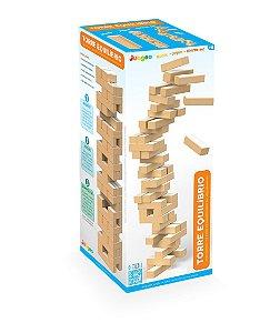 Jogo Torre Equilíbrio Brinquedo Jenga Terremoto Madeira Mdf - 735 Junges