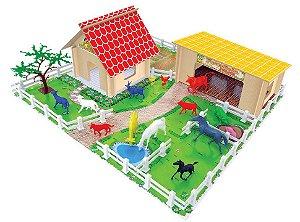 Fazendinha Brinquedo Animais Montar 52pç Mdf Plástico - 725 Junges