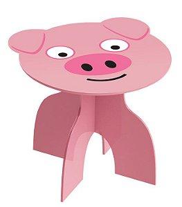 Mesa Infantil Mesinha Animais Kids Brinquedo Criança Madeira Mdf - 970 Junges - Pig
