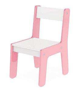 Cadeira Cadeirinha Infantil Mdf Para Mesinha - Junges - Rosa