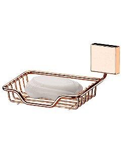 Suporte para Sabonete Saboneteira Aço Rosé Gold 7503rg - Future