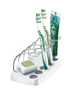 Suporte Porta Escovas Dente Creme Dental Acessório De Banheiro Pia - 1395 Future