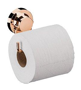 Suporte Porta Papel Higiênico Com Ventosa Rosé Gold 4055rg - Future