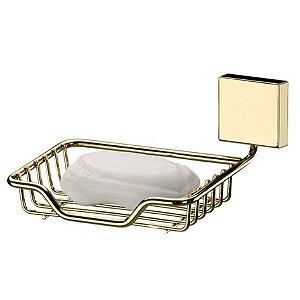 Suporte Porta Sabonete Saboneteira Aço Dourado 7503DD - Future