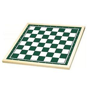 Tabuleiro Para Jogo Xadrez 50x50cm Madeira Brinquedo - 56410 Xalingo
