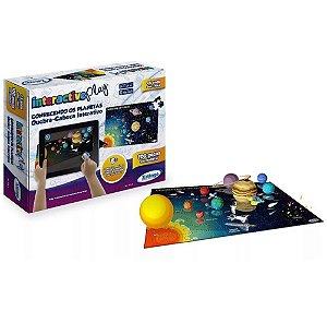 Quebra Cabeças 100 Peças Interativo Conhecendo Planetas Interactive Play - 53265 Xalingo
