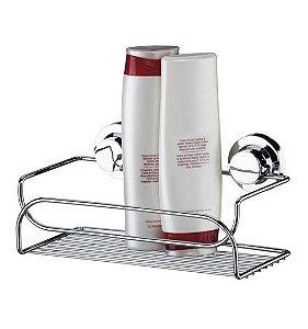 Suporte Porta Shampoo Sabonete Com Ventosa Prateleira Banheiro Cromado - 4050 Future