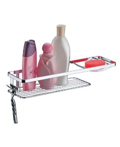 Suporte Porta Shampoo Sabonete Prateleira De Banheiro Parede Cromado - 1107 Future