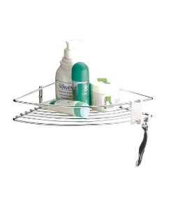 Suporte Porta Shampoo Sabonete Prateleira De Canto Banheiro Cromado - 1004 Future