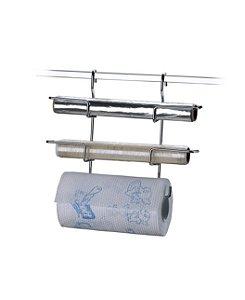 Suporte Triplo Rolo Papel Toalha Alumínio Pvc Para Barra de Parede - 2401 - Future