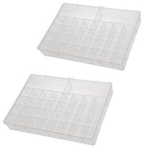 Kit 2 Box Organizador Plus Maleta Caixa Com Divisórias - Paramount