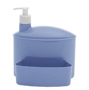 Porta Suporte Dispenser 1 Litro Detergente Esponja Pia - 732 Paramount - Azul