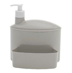 Porta Suporte Dispenser 1 Litro Detergente Esponja Pia - 732 Paramount - Cinza