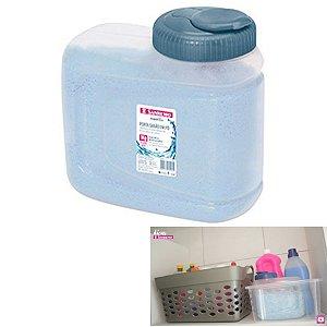 Porta Sabão em Pó 1kg Com Dosador Lavandeira Plástico - 268 Sanremo