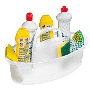 Balaio Cesto Oval 6l Organizador Produto Limpeza Lavanderia Plástico - 238 Sanremo - Transparente