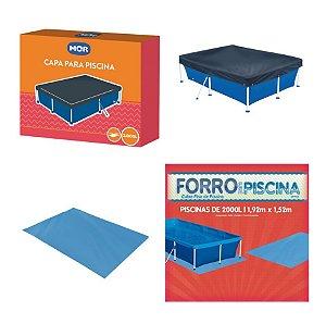 Kit Capa + Forro Para Piscina Infantil 2000 Litros - Mor