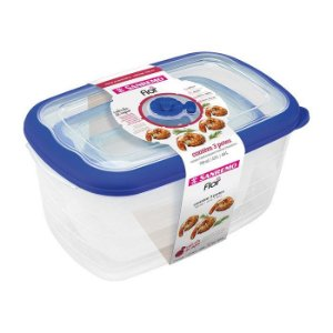 Conjunto 3 Potes Herméticos Porta Alimentos Geladeira Cozinha Flor - 723 Sanremo - Azul
