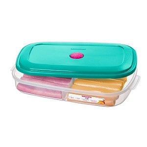 Pote Porta Alimentos Mantimentos Divisória Geladeira Cozinha Plástico - 371 Sanremo - Azul