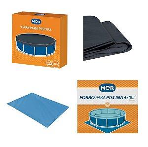 Kit Capa + Forro Para Piscina Estrutural Redonda 4500 Litros - Mor