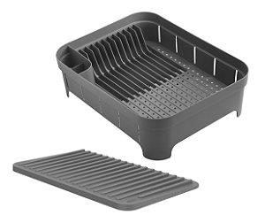 Kit Cozinha 2 Escorredor Organizador De Louças Talheres Copos Chumbo - Ou