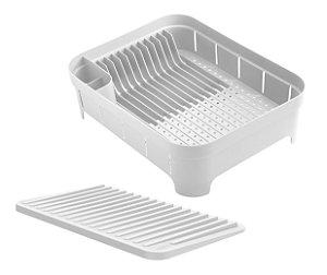 Kit Cozinha 2 Escorredor Organizador De Louças Talheres Copos Branco - Ou