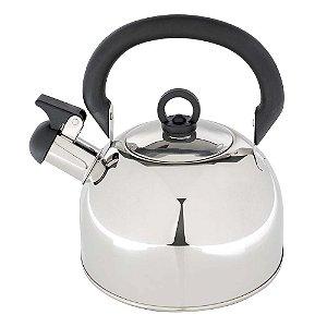 Chaleira Aço Inox 2,5 Litros Com Apito Aguá Chá Cozinha Delizie - 7702 Mor