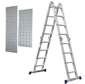 Escada Multifuncional 4x4 Com Plataforma 16 Degraus 5134 - Mor