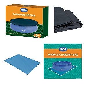 Kit Capa + Forro Para Piscina Splash Fun 4600 Litros - Mor
