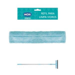 Refil para Limpa Vidros Extensível Microfibra - Mor