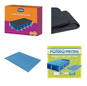 Kit Capa + Forro Para Piscina Premium 7600 Litros - Mor
