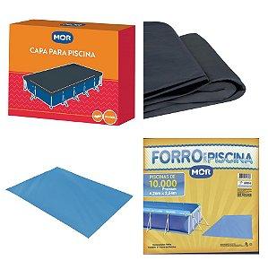 Kit Capa + Forro Para Piscina Premium 10.000 Litros - Mor