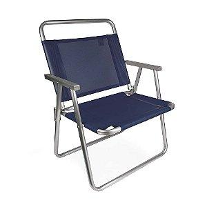 Cadeira De Praia Oversize Alumínio 140 Kg Camping - Mor - Azul