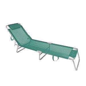 Cadeira Espreguiçadeira 4 Posições Alumínio Piscina Praia  - Mor - Turquesa