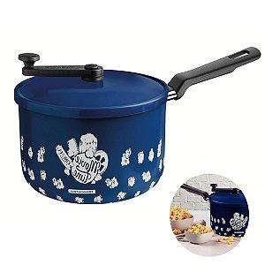 Panela Pipoqueira 3,5L Panela Alumínio 20cm Antiaderente Cozinha Loreto - 27817023 Tramontina - Azul