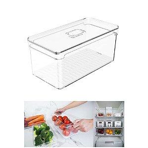 Organizador Porta Mantimento 5 L C/ Tampa Geladeira Fruta Verdura Clear Fresh - OF 300 Ou
