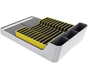 Escorredor De Pratos E Louças Para Pia Cozinha - Branco Crippa - Amarelo