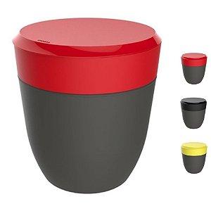 Lixeira 2,5 Litros Redonda Cesto Lixo Bancada Cozinha Escritório Banheiro Chumbo - Crippa - Vermelho