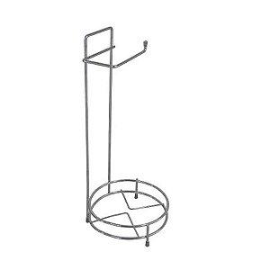 Porta Papel Higiênico E Suporte Para Lixeiras de Chão Banheiro Cromado - 159 AMZ