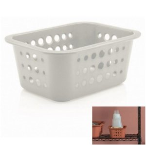 Cesto Caixa Organizadora 1,5 L Multiuso Plástico Lavanderia Quarto - CO 410 Ou - Branco