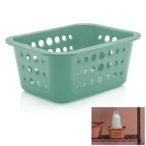 Cesto Caixa Organizadora 1,5 L Multiuso Plástico Lavanderia Quarto - CO 410 Ou - Verde Menta