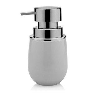 Dispenser Porta Sabonete Líquido Saboneteira Banheiro Belly - PSB 725 Ou - Branco