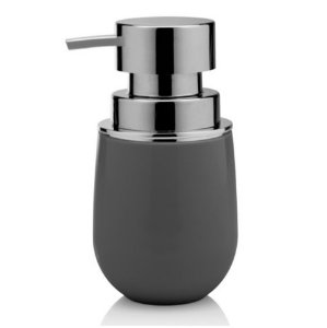 Dispenser Porta Sabonete Líquido Saboneteira Banheiro Belly - PSB 725 Ou - Chumbo