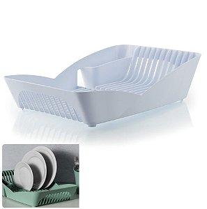 Escorredor de Louças Pratos Talheres Utensílios Cozinha Pia Infinity - ES 500 Ou - Branco