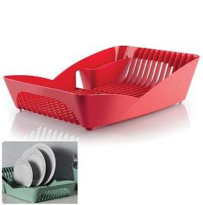 Escorredor de Louças Pratos Talheres Utensílios Cozinha Pia Infinity - ES 500 Ou - Vermelho