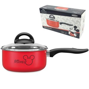 Panela Com Tampa Vidro Mickey Ø18cm alumínio 1,9L Antiaderente Cozinha  Disney - 7222/361 Coza - Vermelho