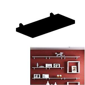 Prateleira Concept Parede 40x20cm Porta Retratos Quadros Livros - Pratk - Preto